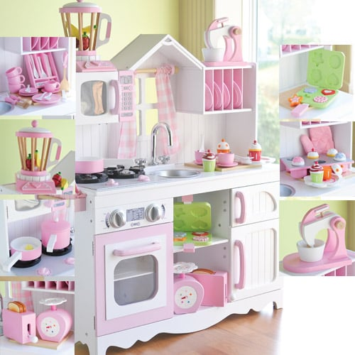 As cozy as home play kitchen 380 kitchen toys for for Girls kitchen playset
