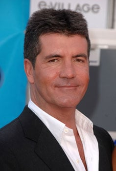 Photos of Shirtless Simon Cowell Sunbathing in Barbados with Sinitta