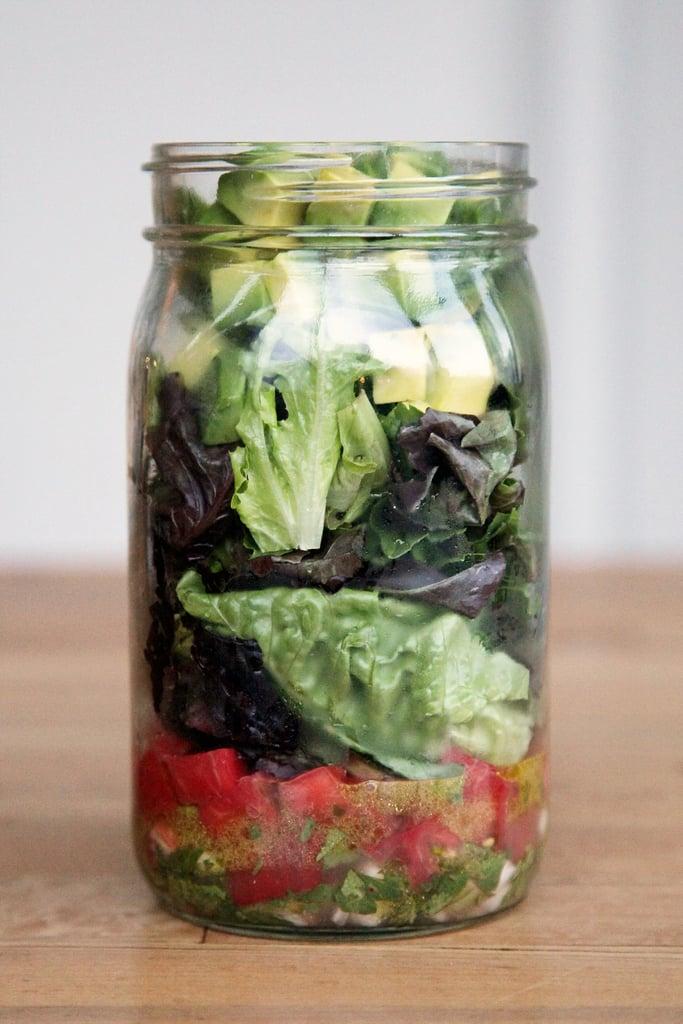 Guacamole Mason Jar Salad