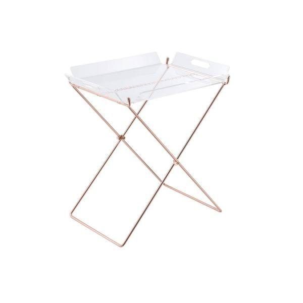Acme Furniture Cercie Tray Table in Clear Acrylic and Copper