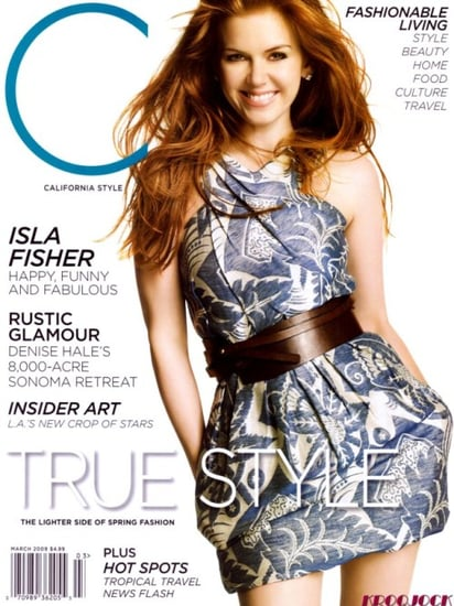 Isla Fisher California Style magazine march 2009