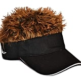 Flair Hair Novelty Adjustable Visor with Spiked Hair