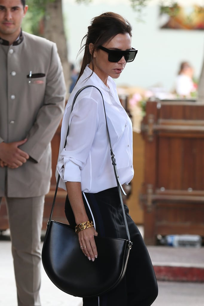 To Finish Off Her Sleek Airport Outfit in Cannes