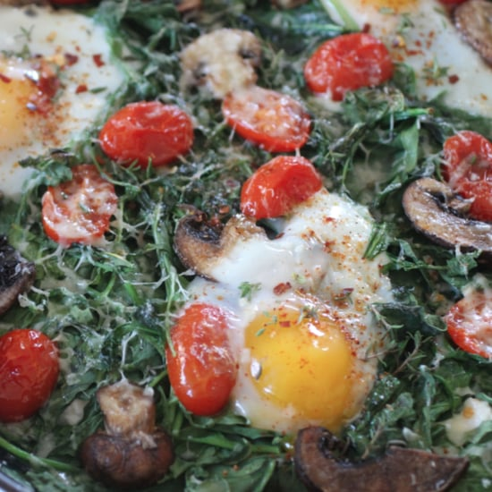 Baked Spinach and Ricotta Eggs