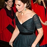 Kate's emeralds As with her rubies, Kate is keeping her lips sealed about who gifted her with this impressive pair of earrings and bracelet — although one thing seems likely. There's bound to be a necklace to go with them, which we will look forward to seeing.
