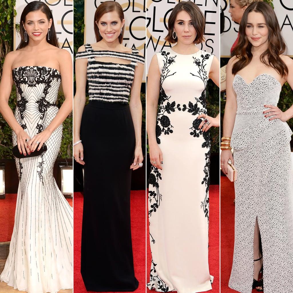 Black and White Dresses at Golden Globes 2014