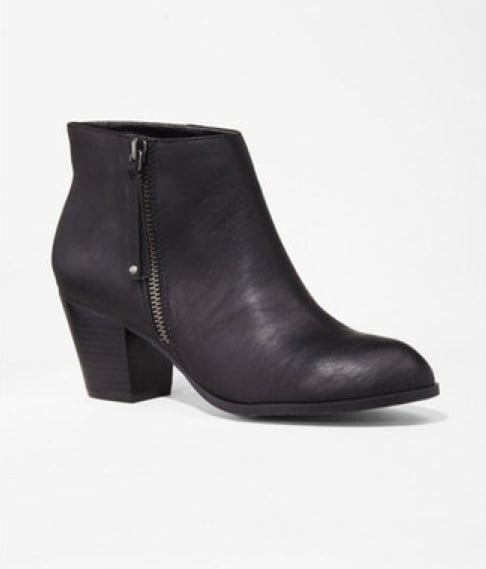 We call these Express side-zip boots ($60) a bargain!