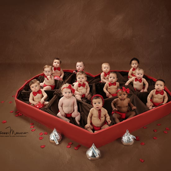 Valentine's Day Photo Shoot With Babies in a Chocolate Box