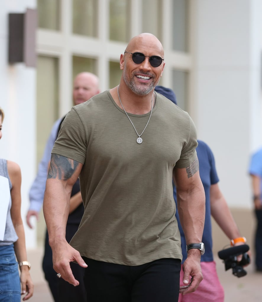 Is it just us or is Dwayne Johnson looking extra good on his Jumanji: Welcome to the Jungle press tour? From his salt and pepper beard to his razor-sharp suits, there is just something so grown and sexy about Dwayne lately that we instantly dissolve every time we see him. Luckily for us, Dwayne still has a few more stops to go, so we'll just be soaking up every delicious moment until the movie hits theaters on Dec. 20.        Related:                                                                                                           Dwayne Johnson Has Done More This Year Than Most of Us Do in a Decade