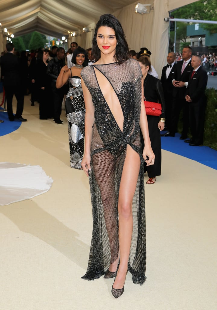 Wearing a Nearly Naked La Perla Gown | Kendall Jenner Wearing Sheer ...