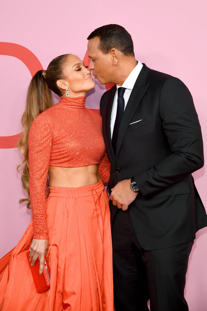 Jennifer Lopez had the full support of her fiancé Alex Rodriguez at the 2019 CFDA Awards on June 3. The stunning couple stepped out in NYC to celebrate the 49-year-old singer as she received the Fashion Icon Award. Naturally, they were quite the stylish pair at the event, and even showed off some sweet PDA on the red carpet.  Jennifer and Alex have been together since 2017, and got engaged in March. They frequently attend events together, and can turn the most glamorous party into a downright darling date night. Check out a few photos of their night at the CFDA Awards ahead — they'll take your breath away.       Related:                                                                                                           Alex Rodriguez Practiced His Proposal to J Lo With His Assistant to Get the Timing *Just* Right