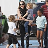 Angelina Jolie took Zahara, Pax, Shiloh, Knox, and Vivienne Jolie-Pitt to a park in the South of France in September.