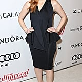 Jessica Chastain posed outside the event.