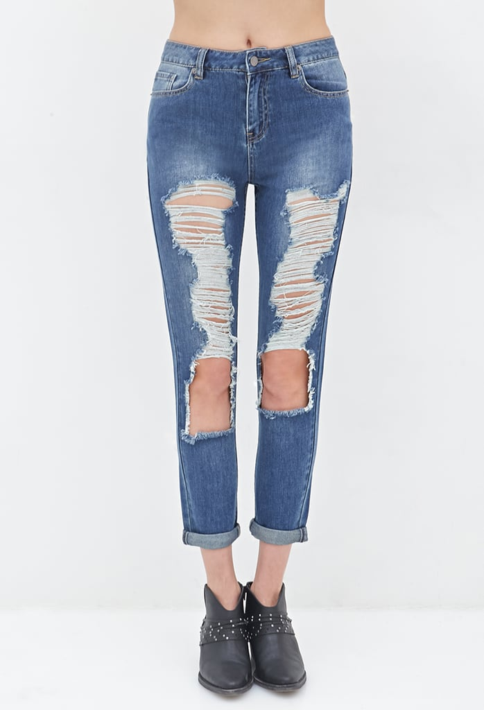 Forever 21 Distressed Straight-Leg Jeans ($28)