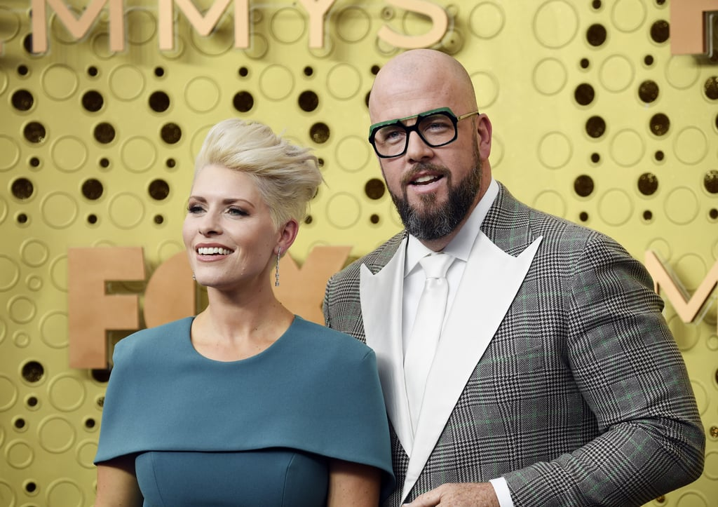 Rachel Reichard and Chris Sullivan at the 2019 Emmys