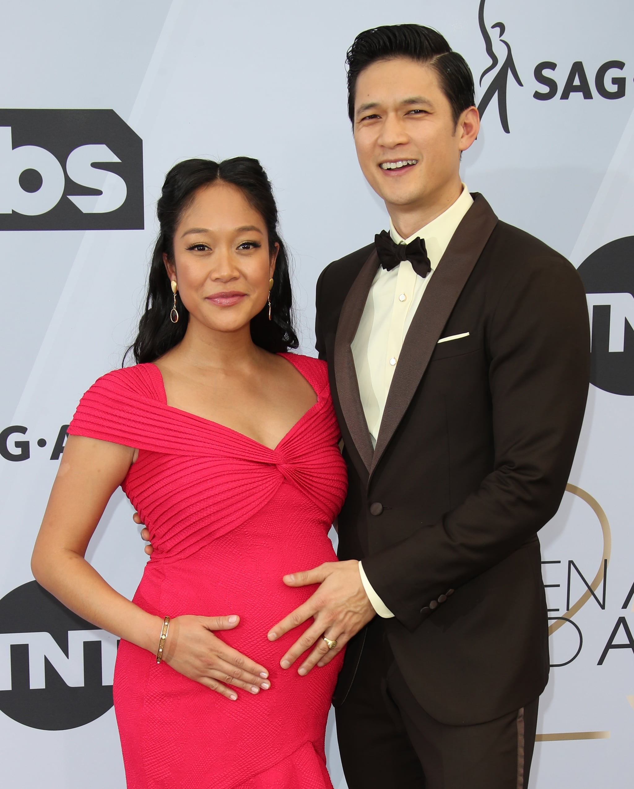 LOS ANGELES, CA - JANUARY 27: (L-R) Shelby Rabara and Harry Shum Jr. attend the 25th Annual Screen Actors Guild Awards at The Shrine Auditorium on January 27, 2019 in Los Angeles, California. (Photo by Dan MacMedan/Getty Images)