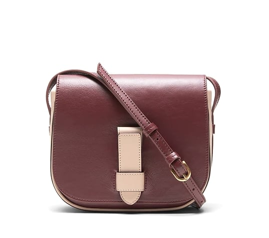 Italian Leather Saddle Bag