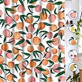 Lifeel Peach Shower Curtains, Allover Fruits Shower Curtain