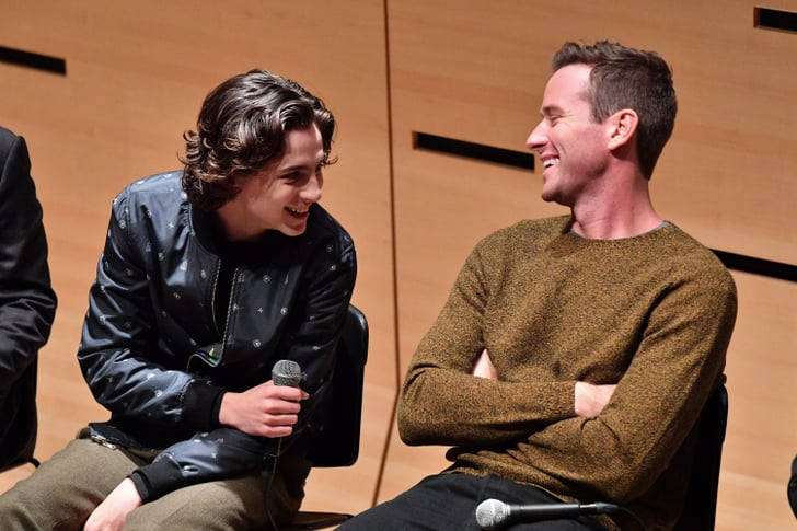 Armie Hammer And Timothee Chalamet Pictures Popsugar