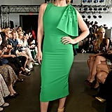 Katharine McPhee at the Pamella Roland New York Fashion Week Show