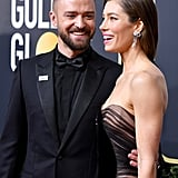 Justin and Jessica stayed close on the Golden Globes red carpet in January 2017.