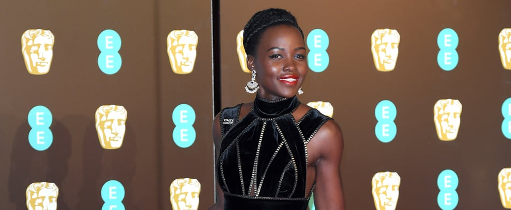 Lupita Nyong'o Looked Fierce and Feminine on the BAFTA Awards Red Carpet