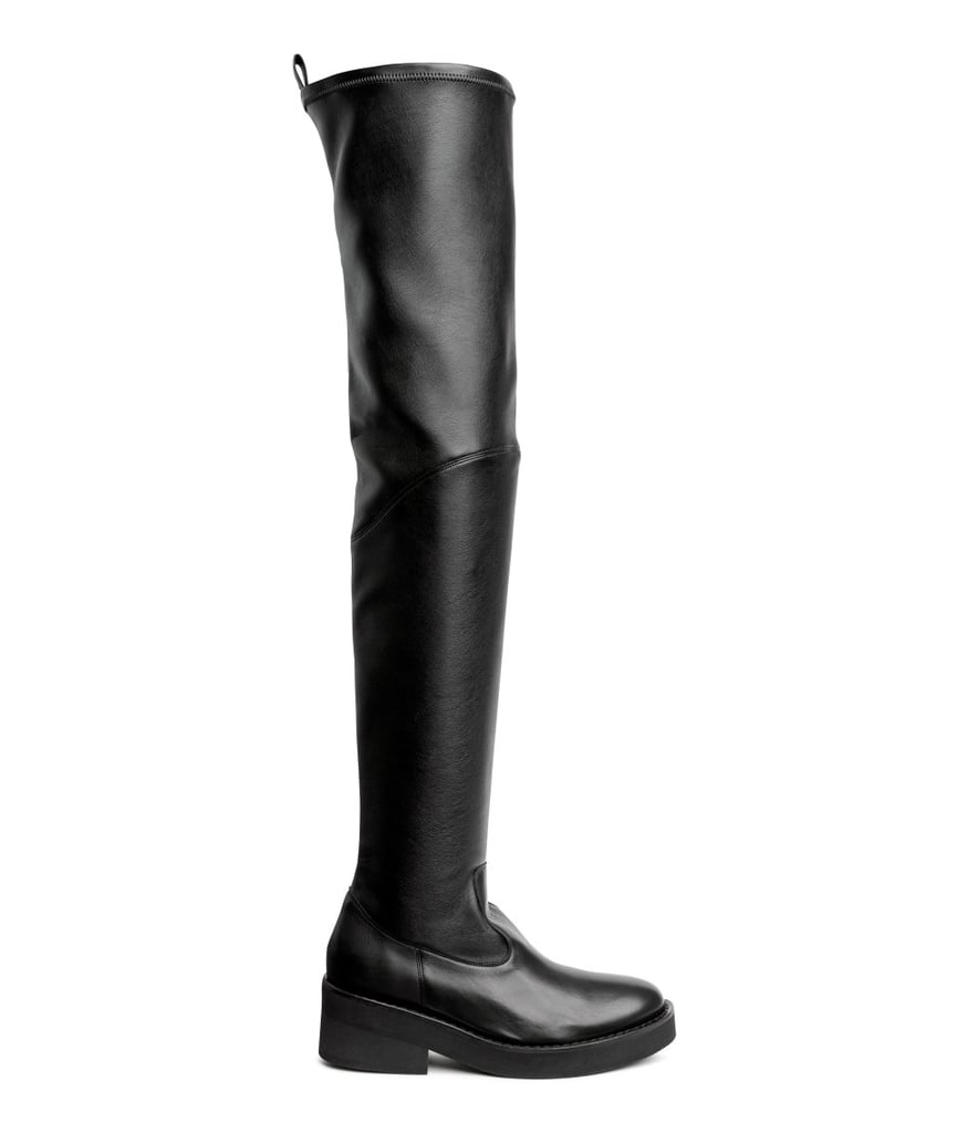 Leather Over-Knee Boots