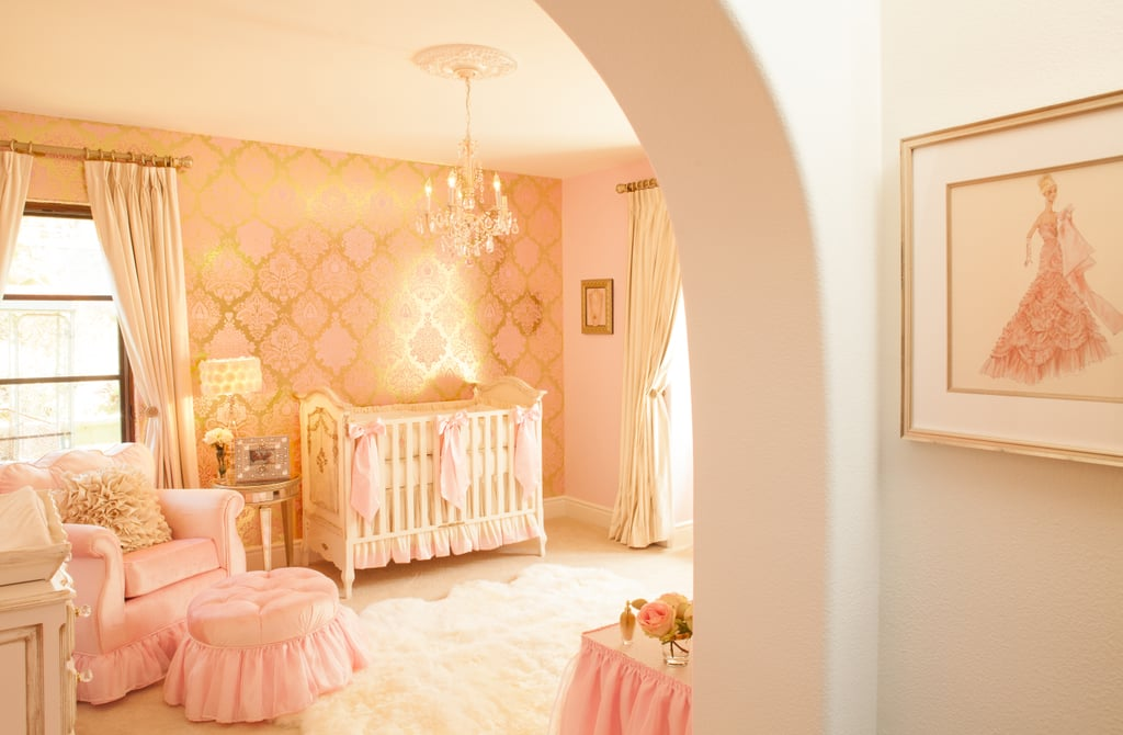 """Gerri and Naomi selected a suite of nursery furniture by celebrity favorite Art For Kids. """"We knew that this room was going to be special, so we started by choosing something heavenly with impeccable details. Art For Kids was the perfect choice,"""" Gerri says.  Source: Little Crown Interiors"""