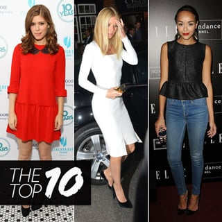 Top Ten Best Dressed Of The Week: Kate Middleton Navy Dress, Gwyneth Paltrow White Dress