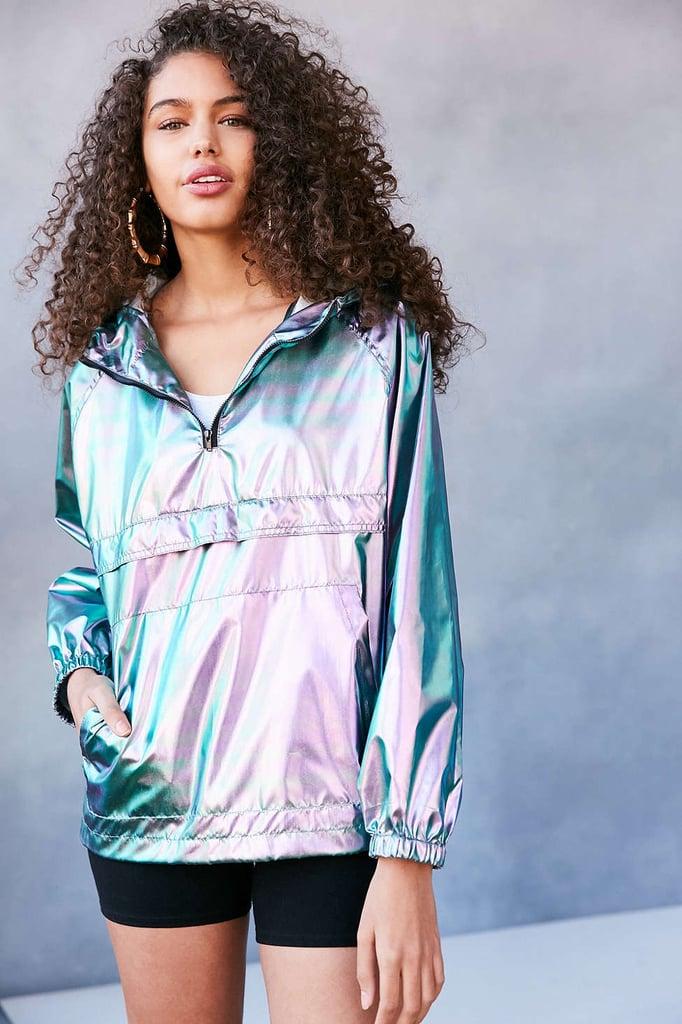 Iridescent Packable Windbreaker Jacket