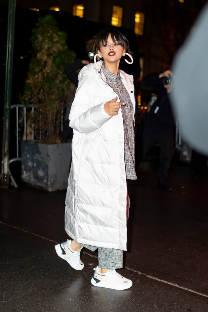 Selena Gomez Wears Everlane Puffer to Puma Meet and Greet