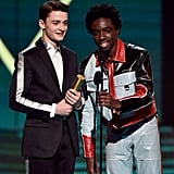 Noah Schnapp and Caleb McLaughlin at the 2019 People's Choice Awards