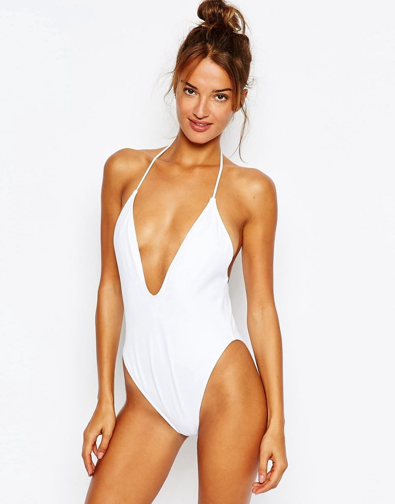 ASOS T Back High Leg Plunge Swimsuit ($26)