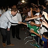 Prince Harry Dancing and Drinking in Belize Pictures