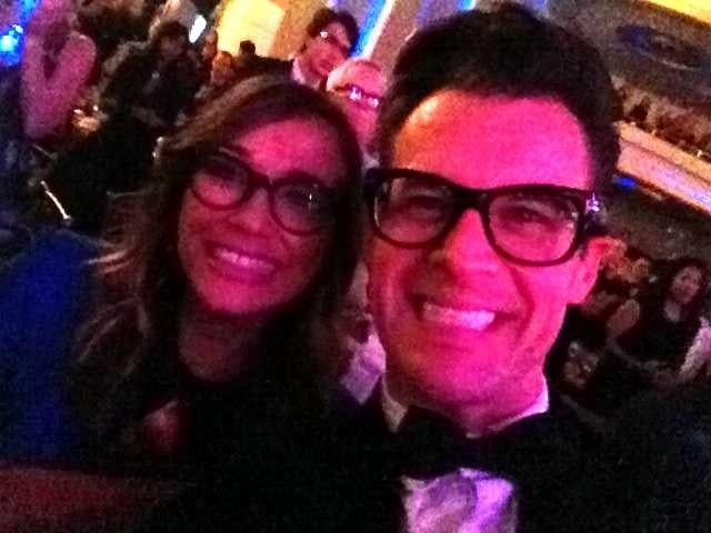 Rashida Jones partied with Brad Goreski at the Trevor Live event. Source: Twitter user iamrashidajones