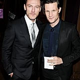 With Luke Evans