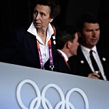 Princess Anne looked on ahead of the opening ceremony.