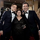 Rami Malek was accompanied by his adorable mom (and Jon Hamm) at the Golden Globes.