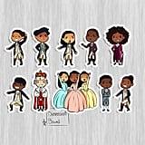 Hamilton Stickers Set