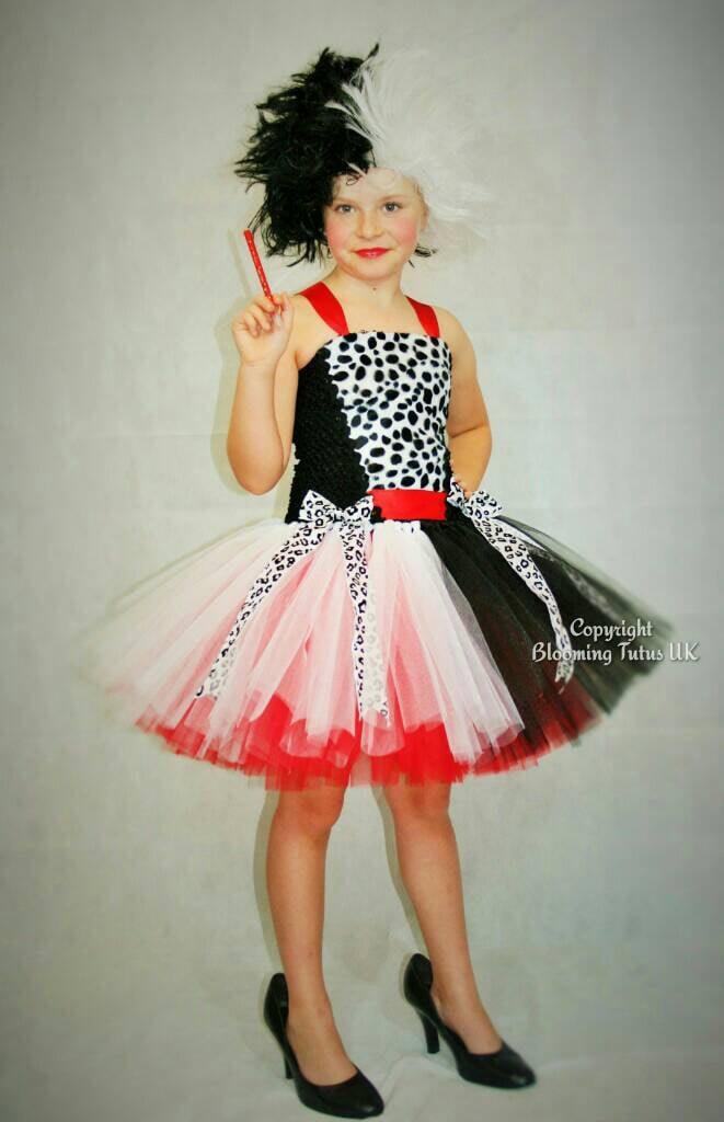 Cruella De Vil Inspired Handmade Tutu Dress