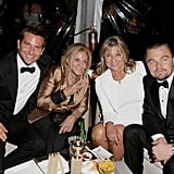 How cute! Leonardo DiCaprio and Bradley Cooper hung out inside with their moms.