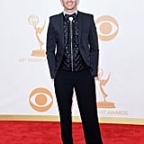 Actor Asher Monroe was all smiles at the Emmys.