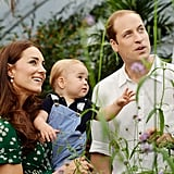 William and Kate posed with Prince George in 2014.
