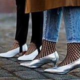 Wear Fishnet Socks or Stockings Under Your Lightweight Denim