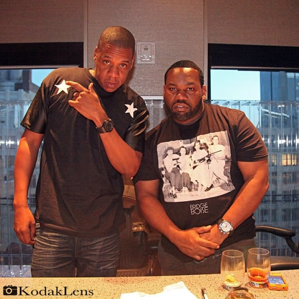 Rapper Raekwon reunited with Jay-Z. Source: Instagram user raekwon