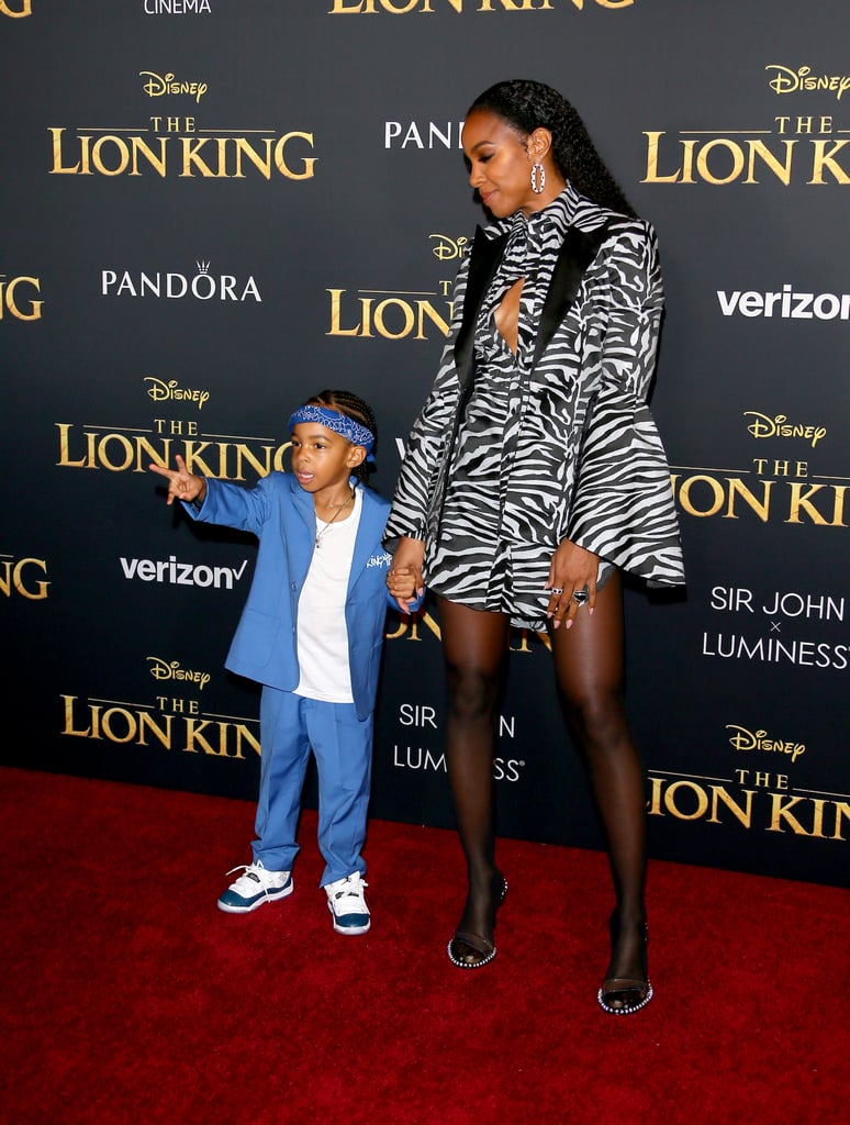 Pictured: Kelly Rowland and Titan Witherspoon at The Lion King premiere in Hollywood.