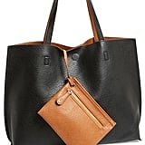 Reversible Faux-Leather Tote and Wristlet