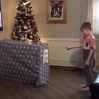 Boy Unwraps Military Dad as Early Christmas Gift