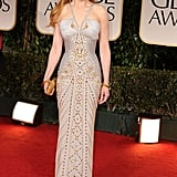 Nicole wearing Versace at the 2012 Golden Globe Awards.
