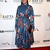 Tracee Ellis Ross kept it sweet in a printed A-line dress for the BAFTAs.